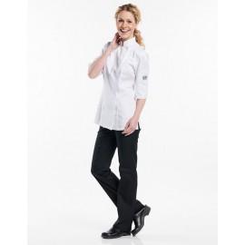 Koksvest Lady Comfort White 3/4Sleeves