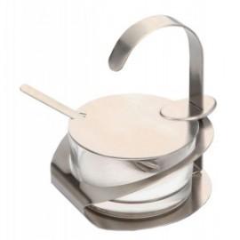Kaas of Confituurpot Met Metalen Lepel