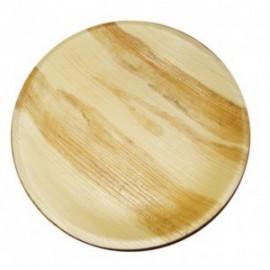 Bord hout palm rond Ø230mm 25 stuks