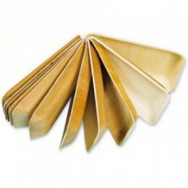 Bord/Schaaltje hout palm rechthoekig 160x125xH30mm 25stuks