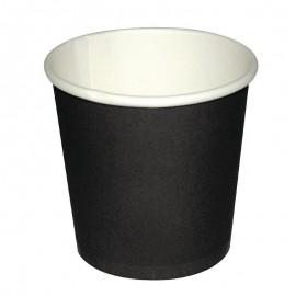 Fiesta wegwerp zwarte espresso kopjes 11cl 50st