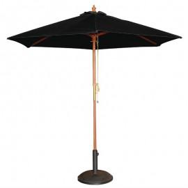 Bolero vierkante zwart parasol 2,5 meter