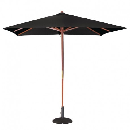 Bolero vierkante zwarte parasol 2,5 meter