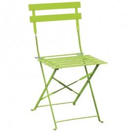 2x stalen opklapbare stoel groen