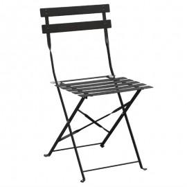 2x stalen opklapbare stoelen zwart