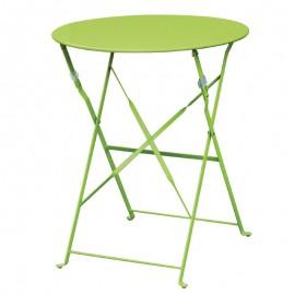 Bolero ronde stalen opklapbare tafel groen 59,5cm