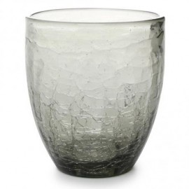 GLASS 0.25L GREY CRACKLE (4STUKS)