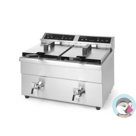 Inductie Friteuse Kitchen Line 2x8L
