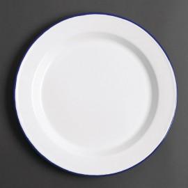 Soepbord Wit/Blauw 24,5cm 6 Stuks