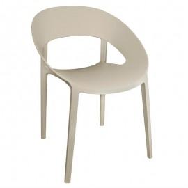 polypropyleen stoel beige - 4 stuks