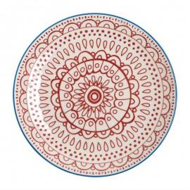 Fresca borden rood 26,8cm 6Stuks