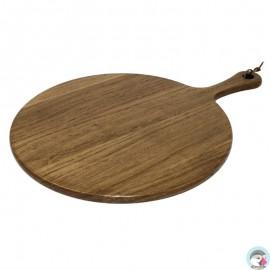 Acacia Houten Plank Rond 35,5cm, Greep 13,5cm