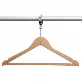10ST. houten anti-diefstal garderobehanger