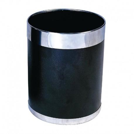 prullenbak zwart met zilveren rand 10,2ltr