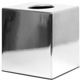 Bolero vierkante tissuebox van chroom