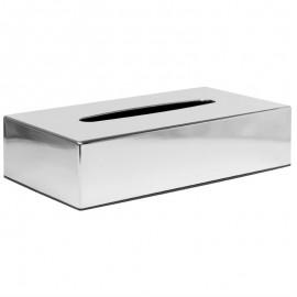 Rechthoekige tissuebox van chroom