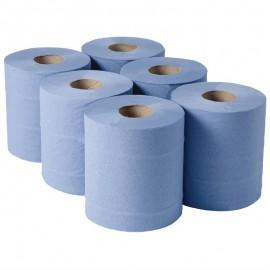 Centrefeed handdoekrollen blauw 6 rollen