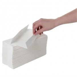 C-gevouwen handdoeken 2-laags wit