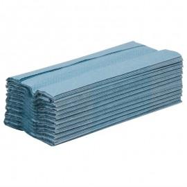 C-gevouwen handdoeken 1-laags blauw