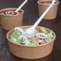 Fiesta Green ronde kraft saladeschaal 1L 300st