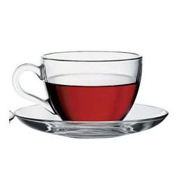 Basic koffie/thee tas+ondertas 205ml